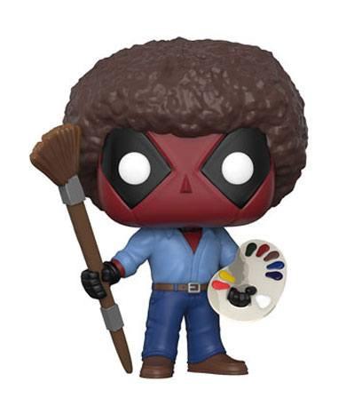 Deadpool Parody POP! Marvel Vinyl Figur Deadpool Bob Ross 9 cm