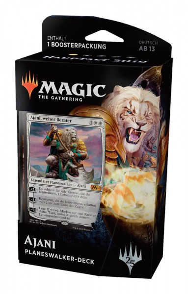Magic the Gathering Hauptset 2019 Ajani Planeswalker Deck (DE)