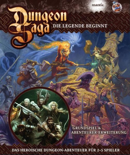 Dungeon Saga DELUXE DEUTSCH (beinhaltet 1. Erw.)