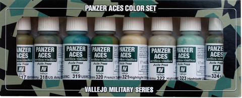 Panzer Aces Set No3 (8 Farben) (Bristish, U.S., French)