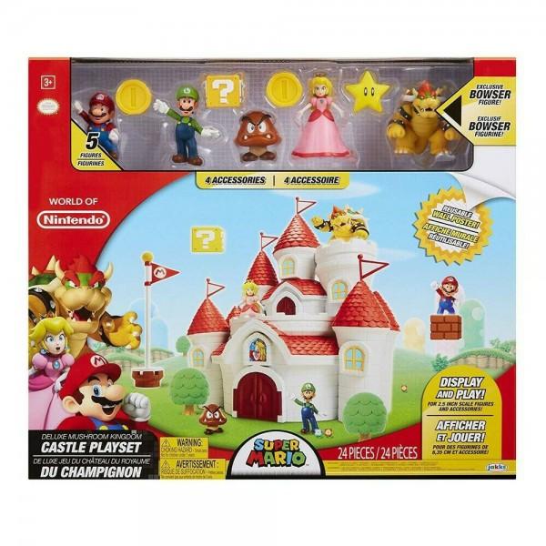 World Of Nintendo Deluxe Spielset Super Mario Mushroom Kingdom Castle