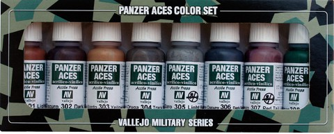 Panzer Aces Set No1 (8 Farben) (Rust, Tracks, Rubber)