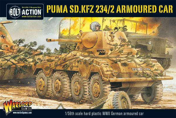 Puma Sd.Kfz 234/2 Armoured Car plastic box