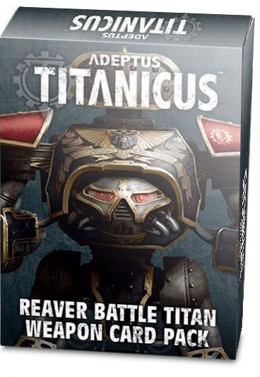Adeptus Titanicus Reaver Battle Titan Weapon Card Pack (Englisch)