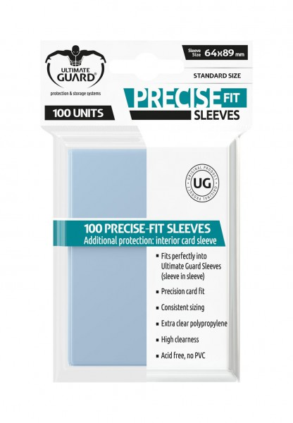 Ultimate Guard Precise-Fit Sleeves Standardgröße Transparent (100)
