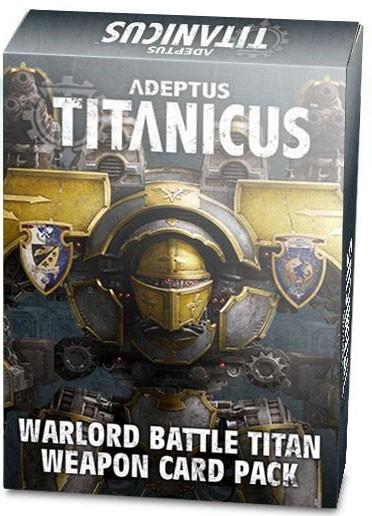 Adeptus Titanicus Warlord Battle Titan Weapon Card Pack (Englisch)