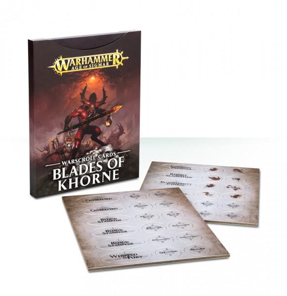Warscroll-Karten: Blades of Khorne (DE)