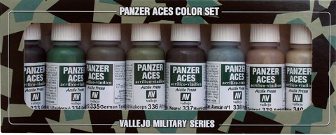 Panzer Aces Set No5 (8 Farben) (German)