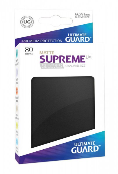 Ultimate Guard Supreme UX Sleeves Standardgröße Matt Schwarz (80)