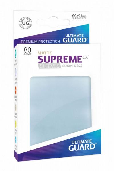 Ultimate Guard Supreme UX Sleeves Standardgröße Matt Transparent (80)