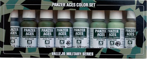 Panzer Aces Set No4 (8 Farben) (Russian, Italian, Japanese)