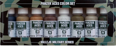 Panzer Aces Set No2 (8 Farben) (Wood, Leather, Canvas, Mud)