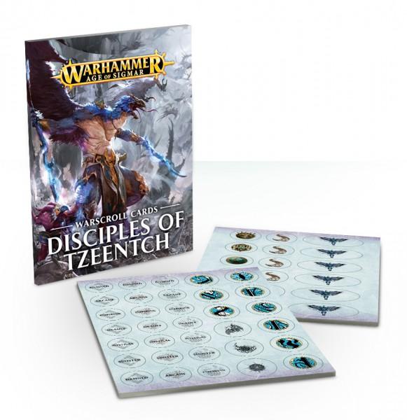 Warscroll-Karten: Disciples of Tzeentch (DE)