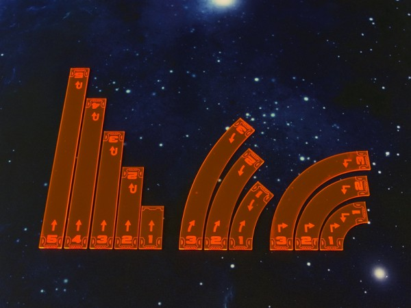 Space Fighter Move Templates Orange