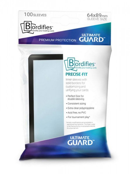 Ultimate Guard Bordifies™ Precise-Fit Sleeves Standardgröße Schwarz
