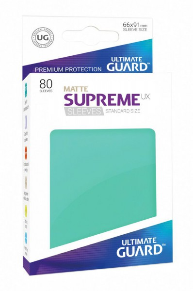 Ultimate Guard Supreme UX Sleeves Standardgröße Matt Türkis (80)