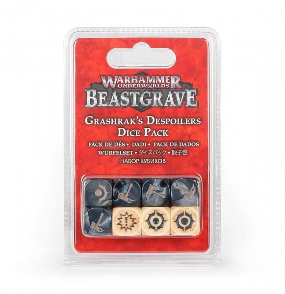 Würfelset Warhammer Underworlds: Beastgrave – Grashraks Vandalen