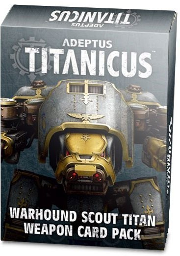 Adeptus Titanicus Warhound Scout Titan Weapon Card Pack (Englisch)