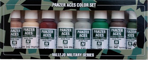 Panzer Aces Set No6 (8 Farben) (Skintones, Splinter Camo)