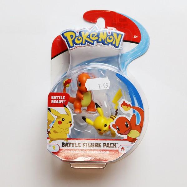 Pokémon Battle Feature Figure: Pikachu und Glumanda