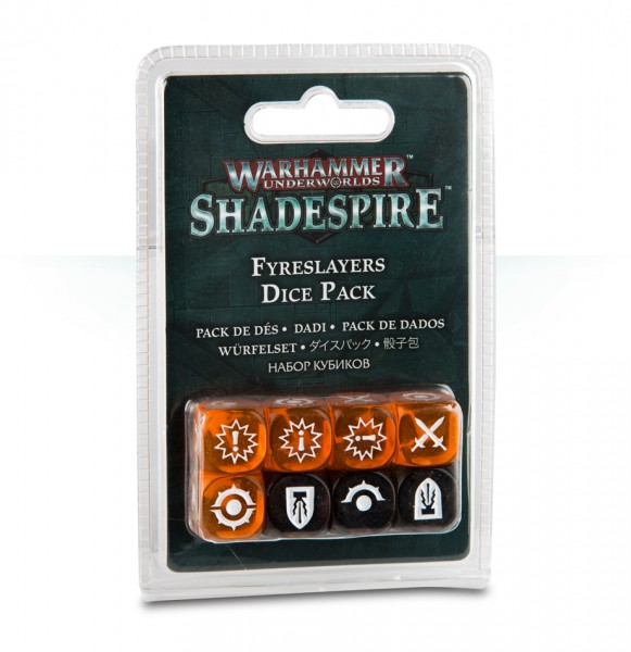 Warhammer Underworlds: Shadespire – Fyreslayers-Würfelset