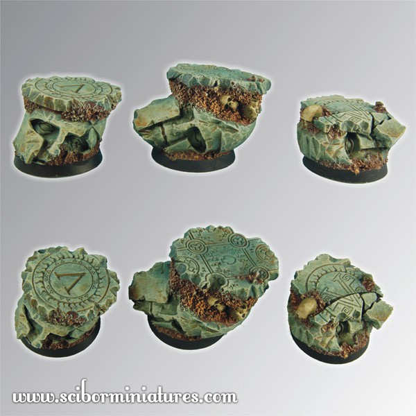 Spartan Ruins 25 mm round bases set2