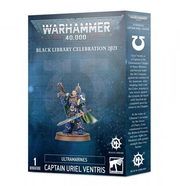 Ein 14-teiliger Kunststoffbausatz, aus dem du einen Captain Uriel Ventris für den Einsatz in deinen Warhammer-40.000-Spielen bauen kannst.