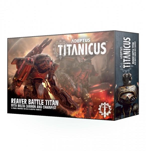 Adeptus Titanicus Reaver Battle Titan mit Melterkanone und Kettenfaust